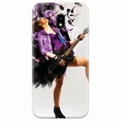 Husa silicon pentru Samsung Galaxy J3 2017 Rock Music Girl