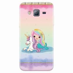 Husa silicon pentru Samsung Galaxy J5 2015 Mermaid Unicorn Play