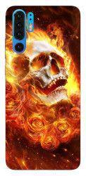 Husa Silicon Soft Upzz Print Huawei P30 Pro Model Flame Skull