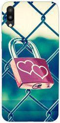 Husa Silicon Soft Upzz Print Samsung Galaxy M10 Model Heart Lock