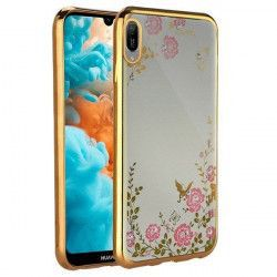 Husa Spate Forcell Bling Diamond Samsung Galaxy M10 Gold