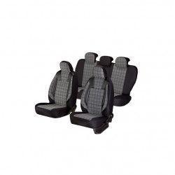 Huse scaune auto Umbrella DACIA LOGAN II Luxury Piele ecologica Negru+ Gri Textil Huse si Accesorii
