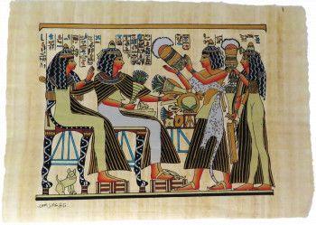 Imagine de perete 41/30cm tablou stil egiptean pictat manual hartie de papirus Tablouri