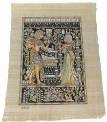 Imagine de perete 42/32cm dualwiew tablou stil egiptean pictat manual hartie de papirus lumineaza in intuneric Tablouri