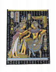 Imagine de perete cu regina lumineaza in intuneric 42/32cm tablou egiptean pictat manual pe hartie de papirus E121 Tablouri