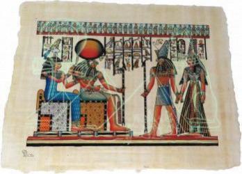 Imagine de perete dualwiew tablou 42/32cm pictat manual stil egiptean hartie de papirus lumineaza in intuneric Tablouri