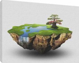 Insula mica - Tablou canvas - 52x70 cm Tablouri