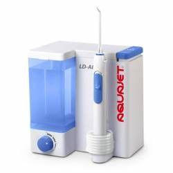 Irigator bucal Little Doctor Aquajet LD A8 Profesional 1200 impulsuri pe min 4 duze incluse Alb