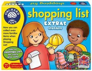 Joc educativ in limba engleza Lista de cumparaturi Haine Jucarii