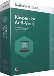 Kaspersky Anti-Virus European Edition 2PC 1An Licenta Reinnoire Electronica Antivirus