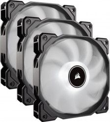 Kit 3 Ventilatoare PC Corsair AF120 LED Low Noise Cooling Fan 1500 RPM Alb