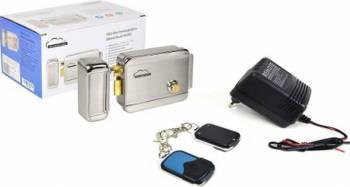 Kit automatizare porti fara fir SilverCloud alimentator cu 2 telecomenzi AP101 si Yala electromagnetica YR300 Resigilat
