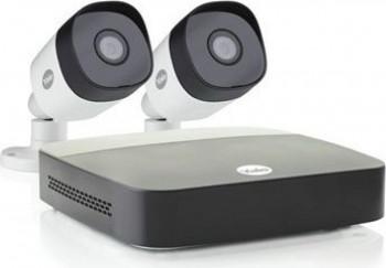 Kit CCTV Yale SV-4C-2ABFX-2 Smart Home Full HD 1080 Alb Negru