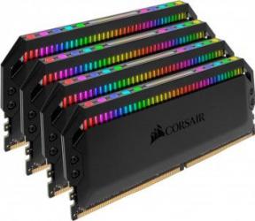 Kit Memorie Corsair DOMINATOR PLATINUM RGB 32GB 4x8GB DDR4 3600MHz C18 Memorii