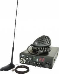 Kit Statie radio CB PNI Escort HP 8024 AS cu Antena CB PNI Extra 45