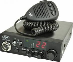 Kit Statie radio CB PNI ESCORT HP 8024 ASQ + Antena CB Midland ML145 cu magnet