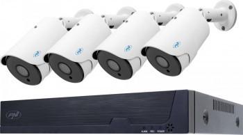 Kit supraveghere video PNI House IPMAX POE Five 5 MP 2 K Detectie chip Detectie miscare RJ45 Alb Camere de Supraveghere