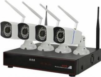 Kit supraveghere video PNI House WiFi550 NVR si 4 camere wireless 1.0MP Camere de Supraveghere