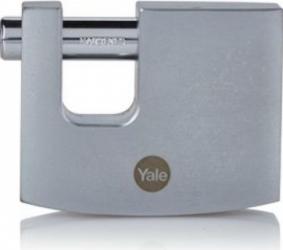 Lacat Yale y124b/70/115/1 rectangular din alama cu finisaj cromat