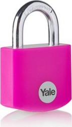Lacat Yale YE3B/38/119/1/P din aluminiu diverse culori 38mm Roz