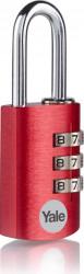 Lacat Yale ye3cb/20/121/1/co din aluminiu cu cifru diverse culori 20mm