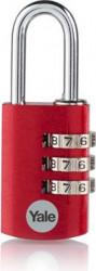 Lacat Yale YE3CB/28/126/1/CO din aluminiu cu cifru diverse culori 28mm Rosu
