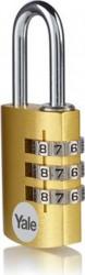 Lacat Yale YE3CB281261GO din aluminiu cu cifru diverse culori 28mm Auriu