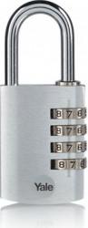 Lacat YE3CB281261S Yale din aluminiu cu cifru diverse culori 28mm Argintiu