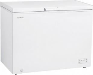 Lada frigorifica Samus LS332A+ 308 L Clasa F Alb Lazi si congelatoare