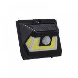 Lampa cu incarcare solara si LED COB senzor miscare infrarosu PIR negru