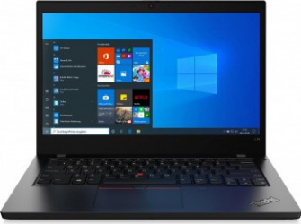 Laptop Lenovo ThinkPad L14 Intel Core (10th Gen) i5-10210U 256GB SSD 8GB FullHD Win10 Pro Tast. ilum. FPR Black Laptop laptopuri