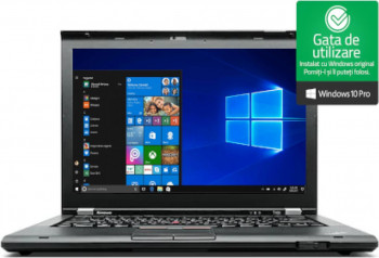 Laptop Lenovo T430 i5-3320M up to 3.30GHz 8GB DDR3 320GB HDD DVDRW Webcam 14inch Refurbished Win10 Pro Laptopuri Renew  Refurbished