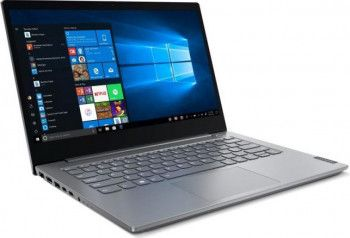 Laptop Lenovo ThinkBook 14-IIL Intel Core (10th Gen) i5-1035G1 256GB SSD 8GB FullHD Win10 Pro FPR Mineral Grey Laptop laptopuri