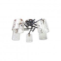 Lustra DC 67005/5 schelet titan abajur alb transparent 5e27 Corpuri de iluminat