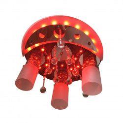 Lustra DC 8054/3 multicolora telecomanda 3e27 dulie ceramica leduri multicolora becuri led 9w 6400k incluse Corpuri de iluminat