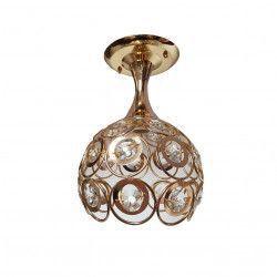 Lustra julia 6134/1 cristal 1e27 schelet auriu inaltime 30cm Corpuri de iluminat