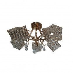 Lustra Rich 10180/5 rotund 5e27 schelet auriu abajur semitransparent cristal Corpuri de iluminat