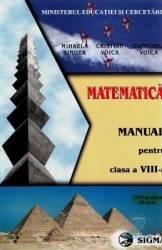 Manual matematica Clasa 8 - Mihaela Singer Cristian Voica Consuela Voica