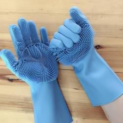 Manusi profesionale cu perii pentru spalat vasele pentru protejarea mainilor
