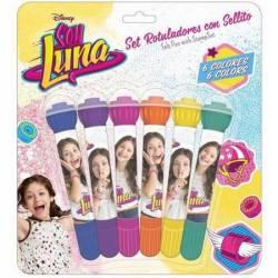 Markere pentru copii 6 culori + stampila Soy Luna Rechizite