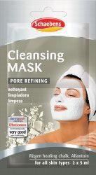 Masca de fata Cleansing Schaebens curata si purifica porii Impiedica impuritatile 2x5ml pentru 2 aplicari Masti, exfoliant, tonice