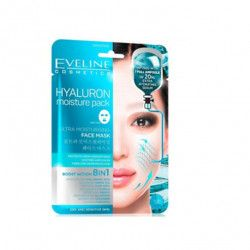Masca de fata Eveline Cosmetics Hyaluron 8in1 ULTRA-MOISTURISING 20 ml Masti, exfoliant, tonice