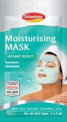 Masca de fata Moisturising Schaebens cu efect instant de hidratare a pielii 2x5ml pentru 2 aplicari Masti, exfoliant, tonice