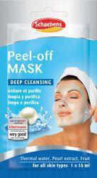 Masca de fata Peel Off Schaebens pentru toate tipurile de piele 1x15ml pentru o aplicare Masti, exfoliant, tonice
