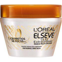 Masca de par multi utilizari LOral Paris Elseve Ulei Extraordinar cu Ulei pretios de Cocos pentru par normal spre uscat 300 ml Masti, exfoliant, tonice