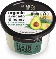Masca de par Organic Shop Bio reparatoare cu Miere si Avocado 250 ml Masca