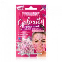 Masca de fata cu sclipici Eveline Galaxity Magic Cristal 10 ml Masti, exfoliant, tonice