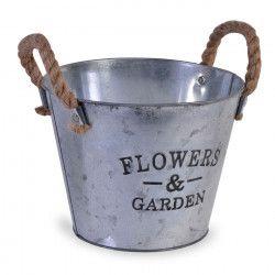 Masca ghiveci galeata metalica Flowers Garden Scule de gradina