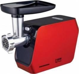 Masina de tocat Heinner MG-2100RD 2100W Accesoriu rosii Accesoriu carnati Cutit inox Rosu Masini de tocat