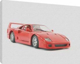 Masina rosie 1 - Tablou canvas - 52x70 cm Tablouri